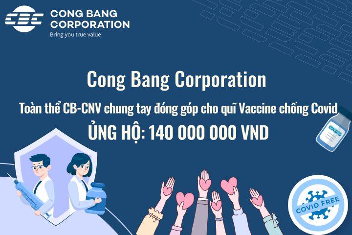 Toàn Thể CB-CNV Cong Bang Corporation Chung Tay Đóng Góp Cho Quỹ Vaccine Chống Covid